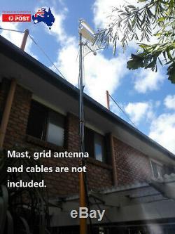 2 x 698-2700 MHz LPDA 4G Antennas & 2x 5m Cables for Netgear NightHawk M1 / M2