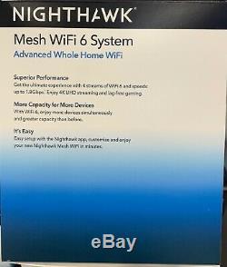 3 Pack NETGEAR Nighthawk AX1800 Dual-Band Mesh Wi-Fi 6 System MK63