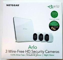ARLO NETGEAR Wireless Security Camera VMS3330-100NAS 3 HD White Ships Free
