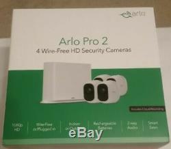 Arlo Pro 2 4-Camera Indoor/Outdoor Wireless 1080p Security Camera System