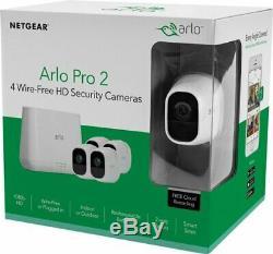 Arlo Pro 2 4-Camera Wireless 1080p Security Camera System White