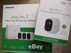 Arlo Pro 2 4 Cameras Indoor/Outdoor Wireless Security HD NEW Arlo by Netgear