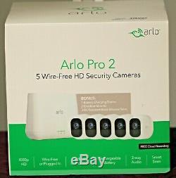 Arlo Pro 2 (VCS4500C) 5 Wire-Free HD Indoor/Outdoor Security Cameras