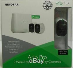 Arlo Pro Security Camera System 2 Wire-Free Rechargeable Cameras (VMS4230)