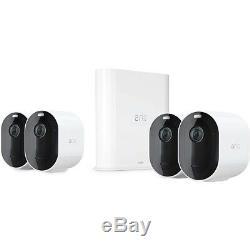 Arlo Pro3 Sicherheitskamera weiß 4er Set 2K-HDR Überwachungskamera