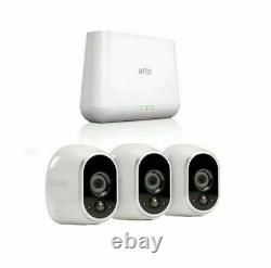 Arlo by NETGEAR Security System with 3 HD Cameras Vms3330 Gen 4 Pro Base Vmb4000