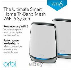 BRAND NEW Netgear ORBI Wifi6 Mesh Wireless Router AX6000 RBK852-100NAS