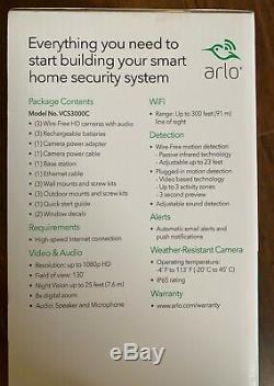 Brand New Arlo Pro 2 WiFi HD Wire-Free 3-pack Camera Security System Bundle