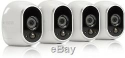 Brand New Arlo Smart Home 4 Hd Security Camera Kit Netgear Vms3430-100eus