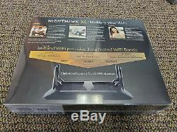 Brand New Netgear R8000-100NA Nighthawk X6 AC3200 Tri-Band WiFi Router Black