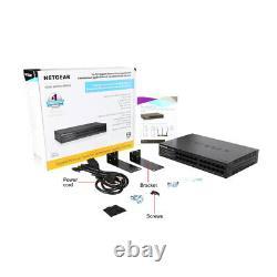 NETGEAR 24PortGS324 Network Switch Gigabit Ethernet Hub Black Internet Splitter
