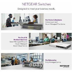 NETGEAR 48 Port Gigabit Ethernet Network Switch, Hub, Internet Splitter, Desktop