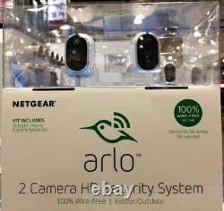 NETGEAR Arlo (2-PACK) Smart Home Indoor/Outdoor Wireless HD IP Security Camera