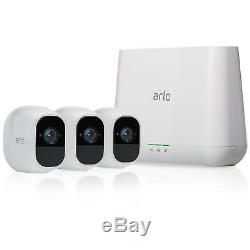 NETGEAR Arlo Pro 2 Smart Home HD Security 3 Camera System Kit Wire Free VMS4330P