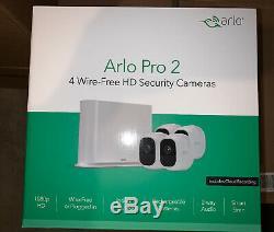 NETGEAR Arlo Pro 2 VMS4430P-100NAS Wireless HD 4-Camera Security System, NIB