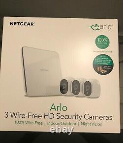 NETGEAR Arlo Security System 3 HD Cameras (VMS3330)