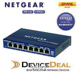 NETGEAR GS108 Prosafe 8 Port 10/100/1000 Gigabit Switch