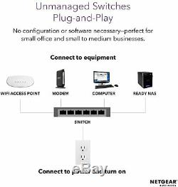 NETGEAR GS316P-100NAS 16-Port Gigabit Ethernet Unmanaged PoE+ Switch
