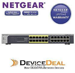 NETGEAR JGS524PE ProSAFE Plus 24-Port Gigabit Rackmount Switch with 12 Port PoE