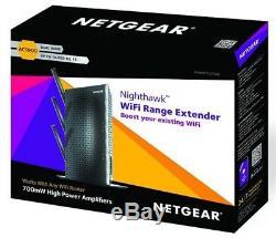 NETGEAR NIGHTHAWK EX7000 AC1900 WiFi Range Extender Booster Gigabit 802.11ac NEW