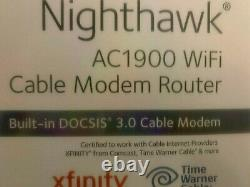 NETGEAR Nighthawk AC1900 with built-in DOCSIS 3.0 Cable Modem FAST! FAST