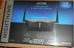 NETGEAR Nighthawk AX4 4-Stream AX3000 802.11ax WiFi 6 Router Brand New