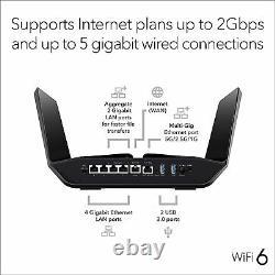 NETGEAR Nighthawk RAX120 AX12 12-Stream Wi-Fi Router RRP £399