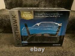 NETGEAR Nighthawk Tri-band AX12 12-Stream WiFi 6 Router (RAX200)
