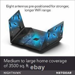 NETGEAR Nighthawk Tri-band AX12 12-Stream WiFi 6 Router (RAX200-100NAS)