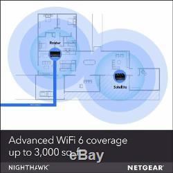 NETGEAR Nighthawk Whole Home Mesh WiFi 6 System (MK62)