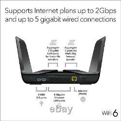 NETGEAR Nighthawk Wifi 6 Router (RAX80) AX6000 Wireless Speed (Up to 6 Gbps)