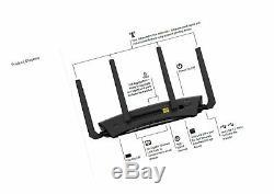NETGEAR Nighthawk X10 AD7200 802.11ac/ad Quad-Stream WiFi Router, 1.7GHz R9000
