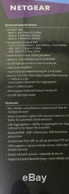 NETGEAR Nighthawk X6S AC3000 MU-MIMO Smart WiFi Router R7900P-100NAS, New Sealed
