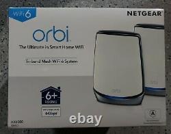 NETGEAR Orbi AX6000 Tri-Band Mesh WiFi 6 System (2-pack) White