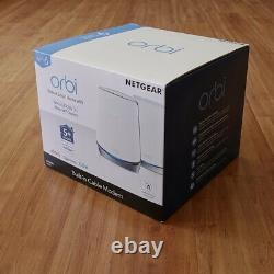 NETGEAR Orbi CBK752 Tri-band Mesh WiFi 6 AX4200 Cable Modem Router CBR750 RBS750