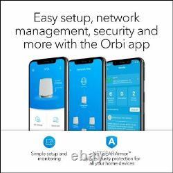 NETGEAR Orbi Mesh WiFi System (RBK753) 1 Router with 2 Satellite Extender