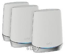 NETGEAR Orbi RBK753S Tri-Band Mesh Wi-Fi 6 System (Set of 3)
