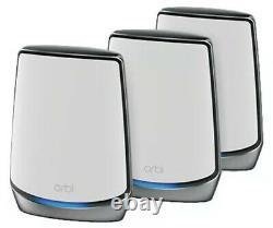 NETGEAR Orbi RBK853 Tri-Band Mesh Wi-Fi 6 System (Set of 3) NEWSEALED