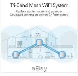 NETGEAR Orbi Rk23 Whole Homr WiFi System 2.2 GBPs WiFi speed. In Hand