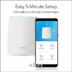 NETGEAR Orbi Tri-band Whole Home Mesh Wi-Fi System with 2.2Gbps Speed (RBK20)