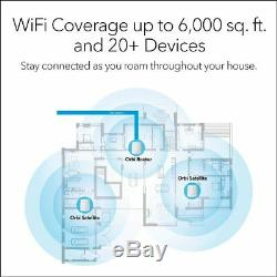 NETGEAR Orbi Tri-band Whole Home Mesh WiFi System with 2.2Gbps 3-pack