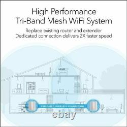 NETGEAR Orbi Whole Home Mesh WiFi System (RBK50) Router with 1 Satellite Exten