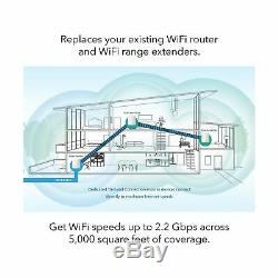 NETGEAR Orbi Whole Home Mesh WiFi System WiFi router and 2 satellite extend