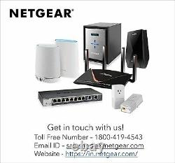 NETGEAR Orbi Whole Home Tri-Band Mesh WiFi 6 System (RBK753) Router with 2 Sat