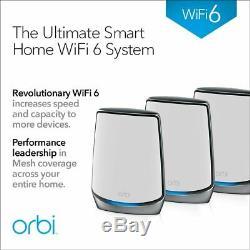 NETGEAR Orbi Whole Home Tri-Band Mesh WiFi 6 System (RBK853) FREE SHIPPING