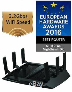 NETGEAR R8000 Nighthawk X6 Tri-Band AC3200 3.2 Gbps Smart Wi-Fi Router