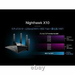 NETGEAR R9000-100JPS (R9000) Smart WiFi Router Nighthawk X10 AD7200 NEW