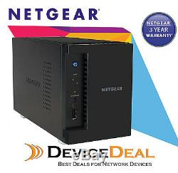 NETGEAR RN21200-100AJS ReadyNAS 2 Bay Diskless NAS 1.4Ghz Quad-Core, 2GB RAM