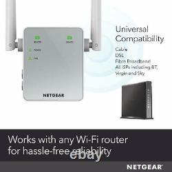 NETGEAR WiFi Range Extender Booster FastLane Dual Band Gigabit External Antenna