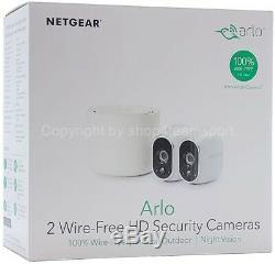 NETGEAR arlo kabelloses Sicherheitssystem Basis + 2x HD Überwachungskamera NEU